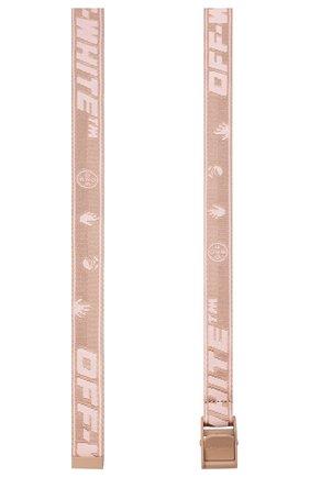 Женский текстильный ремень OFF-WHITE розового цвета, арт. 0WRB042R21FAB001 | Фото 2