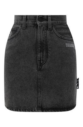 Женская джинсовая юбка OFF-WHITE темно-серого цвета, арт. 0WYF005R21DEN002 | Фото 1