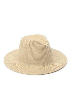 Женская шляпа fedora MELISSA ODABASH кремвого цвета, арт. FED0RA | Фото 1