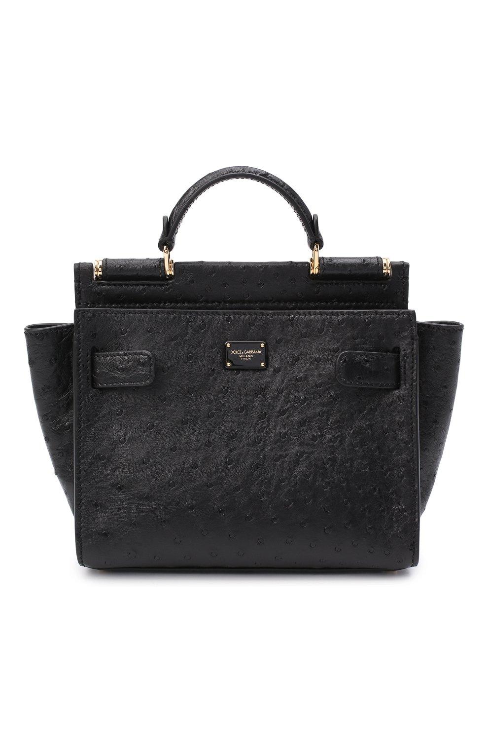 Женская сумка 62 sicily DOLCE & GABBANA черного цвета, арт. BB6960/A8M41 | Фото 1