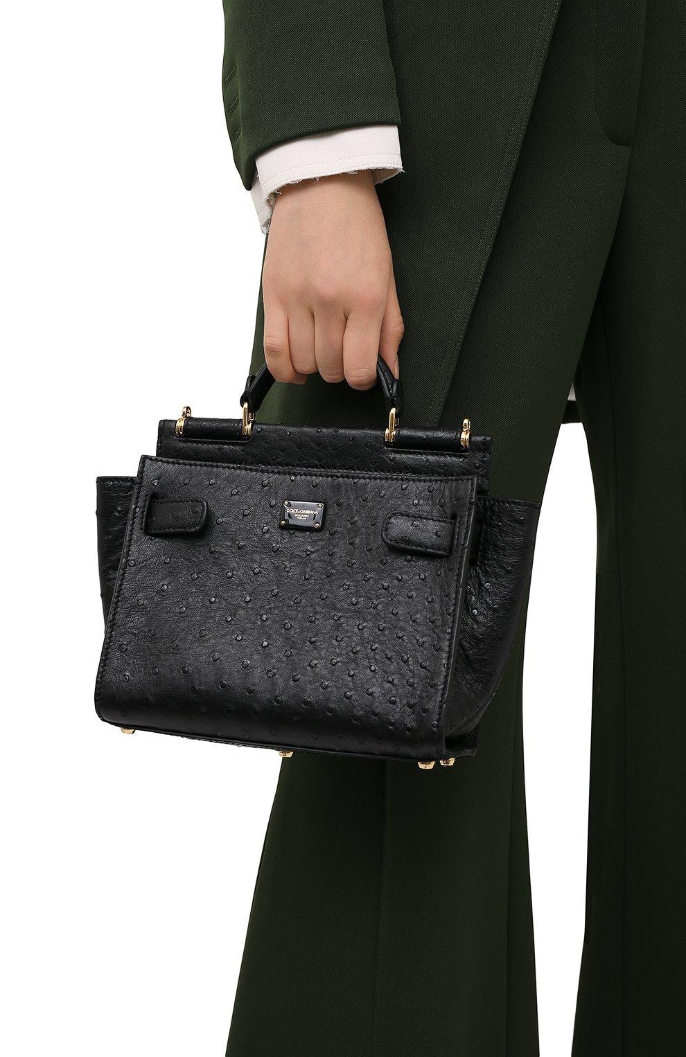 Женская сумка 62 sicily DOLCE & GABBANA черного цвета, арт. BB6960/A8M41 | Фото 2