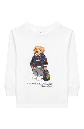 Детский хлопковый свитшот RALPH LAUREN белого цвета, арт. 320805681 | Фото 1
