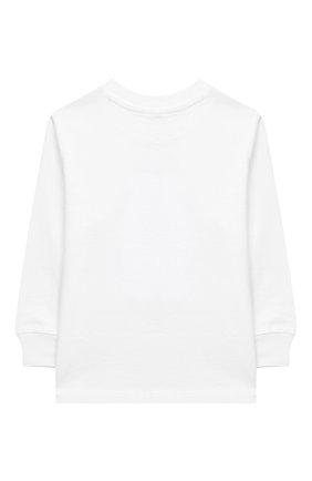 Детский хлопковый свитшот RALPH LAUREN белого цвета, арт. 320805681 | Фото 2