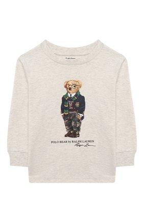 Детский хлопковый свитшот RALPH LAUREN серого цвета, арт. 320805681 | Фото 1