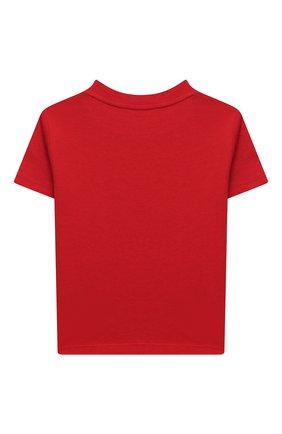 Детский хлопковая футболка RALPH LAUREN красного цвета, арт. 320799045 | Фото 2