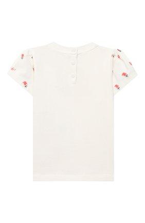 Детский хлопковая футболка EMPORIO ARMANI белого цвета, арт. 3KEM06/3J3YZ | Фото 2