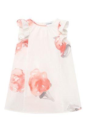 Женский хлопковое платье EMPORIO ARMANI розового цвета, арт. 3KEA01/3N4DZ | Фото 1