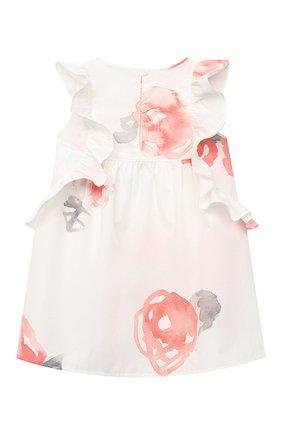 Женский хлопковое платье EMPORIO ARMANI розового цвета, арт. 3KEA01/3N4DZ | Фото 2