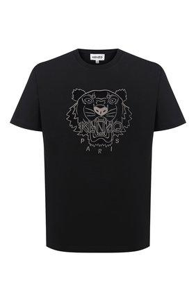 Мужская хлопковая футболка KENZO черного цвета, арт. FA65TS0654YI | Фото 1