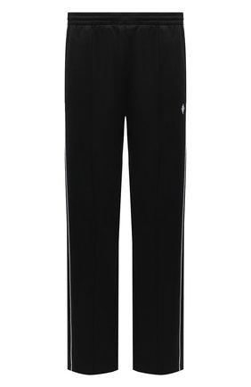 Мужские брюки MARCELO BURLON черного цвета, арт. CMCJ001R21JER001 | Фото 1