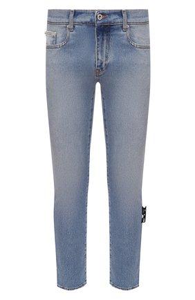 Мужские джинсы OFF-WHITE синего цвета, арт. 0MYA074R21DEN002 | Фото 1