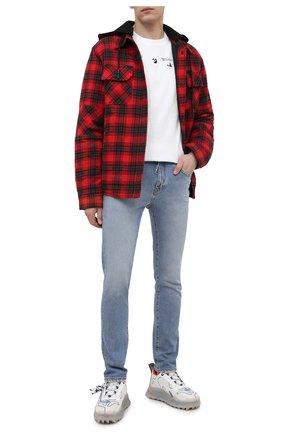 Мужские джинсы OFF-WHITE синего цвета, арт. 0MYA074R21DEN002 | Фото 2