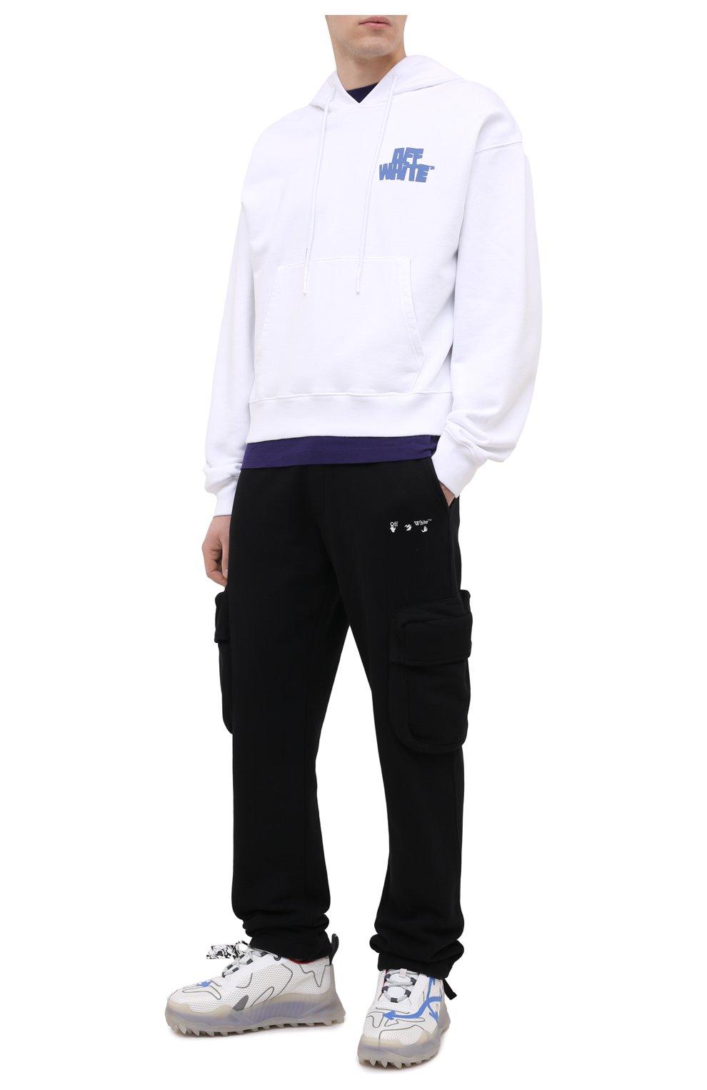 Мужские хлопковые брюки-карго OFF-WHITE черного цвета, арт. 0MCH036R21FLE001 | Фото 2 (Силуэт М (брюки): Карго; Длина (брюки, джинсы): Стандартные; Случай: Повседневный; Стили: Гранж; Материал внешний: Хлопок)