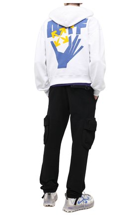 Мужской хлопковое худи OFF-WHITE белого цвета, арт. 0MBB037R21FLE003 | Фото 2