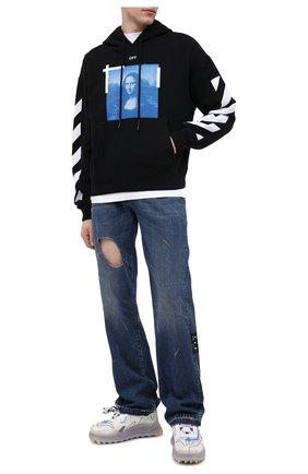 Мужской хлопковое худи OFF-WHITE черного цвета, арт. 0MBB037R21FLE001 | Фото 2
