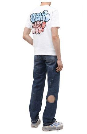 Мужская хлопковая футболка OFF-WHITE белого цвета, арт. 0MAA027R21JER008   Фото 2