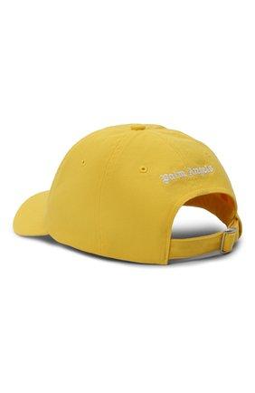 Мужской хлопковая бейсболка PALM ANGELS желтого цвета, арт. PMLB003R21FAB0021801 | Фото 2