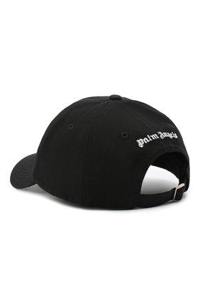 Мужской хлопковая бейсболка PALM ANGELS черного цвета, арт. PMLB003R21FAB0021001 | Фото 2