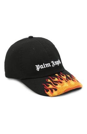 Мужской хлопковая бейсболка PALM ANGELS черного цвета, арт. PMLB003R21FAB0011001 | Фото 1