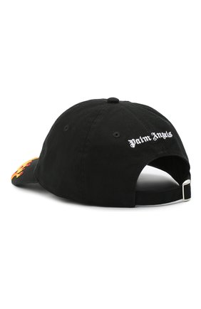 Мужской хлопковая бейсболка PALM ANGELS черного цвета, арт. PMLB003R21FAB0011001 | Фото 2
