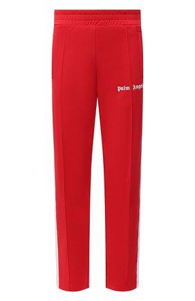 Мужские брюки PALM ANGELS красного цвета, арт. PMCA007R21FAB0012501 | Фото 1 (Материал внешний: Синтетический материал; Стили: Спорт-шик; Случай: Повседневный; Длина (брюки, джинсы): Стандартные)