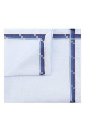 Мужской хлопковый платок SIMONNOT-GODARD синего цвета, арт. 8126 | Фото 1 (Материал: Текстиль, Хлопок)
