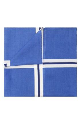 Мужской хлопковый платок SIMONNOT-GODARD синего цвета, арт. C0NNEMARA | Фото 1 (Материал: Текстиль, Хлопок)