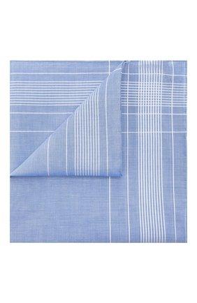 Мужской хлопковый платок SIMONNOT-GODARD светло-голубого цвета, арт. HARLAN | Фото 1 (Материал: Текстиль, Хлопок)
