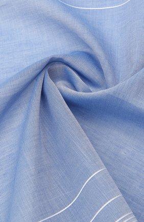 Мужской хлопковый платок SIMONNOT-GODARD светло-голубого цвета, арт. HARLAN | Фото 2 (Материал: Текстиль, Хлопок)