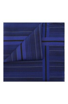 Мужской хлопковый платок SIMONNOT-GODARD темно-синего цвета, арт. V0LGA | Фото 1 (Материал: Хлопок, Текстиль)