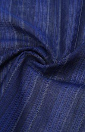 Мужской хлопковый платок SIMONNOT-GODARD темно-синего цвета, арт. V0LGA | Фото 2 (Материал: Хлопок, Текстиль)