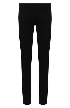 Мужские джинсы DOLCE & GABBANA черного цвета, арт. GY07LD/G8CN9 | Фото 1 (Материал внешний: Хлопок; Силуэт М (брюки): Узкие; Длина (брюки, джинсы): Стандартные)