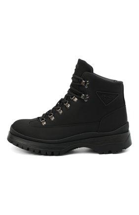 Мужские ботинки PRADA черного цвета, арт. 2TE171-1YFL-F0002-G000   Фото 2