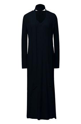 Женское платье из шерсти и кашемира CHLOÉ темно-синего цвета, арт. CHC20WMR70780   Фото 1