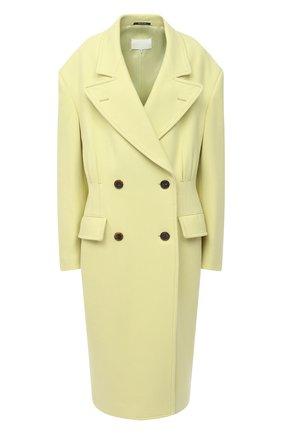 Женское шерстяное пальто MAISON MARGIELA желтого цвета, арт. S29AA0257/S53206   Фото 1