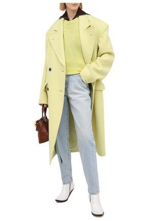 Женское шерстяное пальто MAISON MARGIELA желтого цвета, арт. S29AA0257/S53206   Фото 2