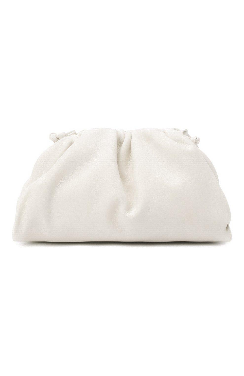 Женский клатч pouch mini BOTTEGA VENETA белого цвета, арт. 585852/VCP40 | Фото 1 (Материал: Натуральная кожа; Женское Кросс-КТ: Клатч-клатчи; Размер: mini; Ремень/цепочка: На ремешке)