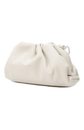 Женский клатч pouch mini BOTTEGA VENETA белого цвета, арт. 585852/VCP40 | Фото 4 (Материал: Натуральная кожа; Женское Кросс-КТ: Клатч-клатчи; Размер: mini; Ремень/цепочка: На ремешке)