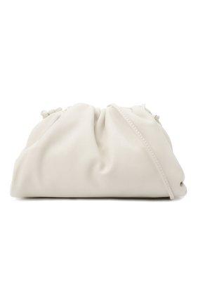 Женский клатч pouch mini BOTTEGA VENETA белого цвета, арт. 585852/VCP40 | Фото 6 (Материал: Натуральная кожа; Женское Кросс-КТ: Клатч-клатчи; Размер: mini; Ремень/цепочка: На ремешке)
