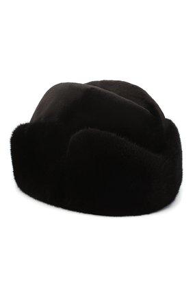Мужская шапка из меха норки KUSSENKOVV темно-коричневого цвета, арт. 420210204125 | Фото 1