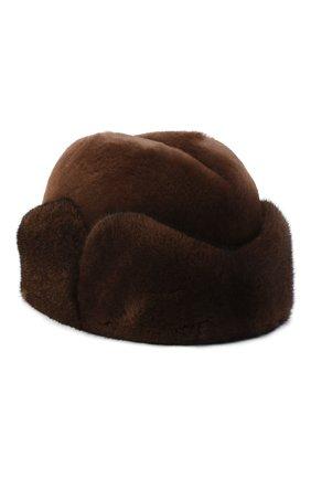 Мужская шапка из меха норки KUSSENKOVV коричневого цвета, арт. 420510503125 | Фото 1