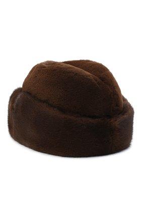 Мужская шапка из меха норки KUSSENKOVV коричневого цвета, арт. 420510503125 | Фото 2