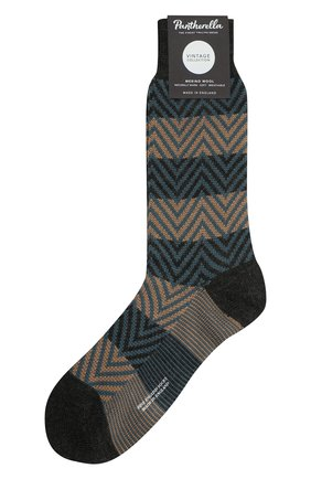 Мужские шерстяные носки PANTHERELLA темно-серого цвета, арт. 59898 | Фото 1