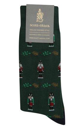 Мужские носки PANTHERELLA зеленого цвета, арт. YS4058 | Фото 1