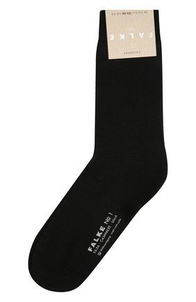 Женские кашемировые носки FALKE черного цвета, арт. 46591   Фото 1