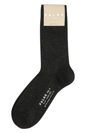 Женские шерстяные носки FALKE серого цвета, арт. 46583 | Фото 1