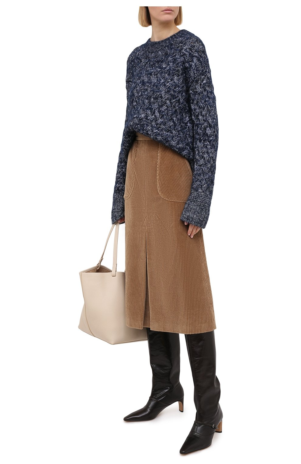 Женская хлопковая юбка DOLCE & GABBANA светло-коричневого цвета, арт. F4BX3T/FUWC5 | Фото 2