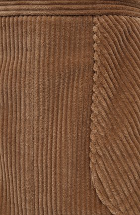 Женская хлопковая юбка DOLCE & GABBANA светло-коричневого цвета, арт. F4BX3T/FUWC5 | Фото 5
