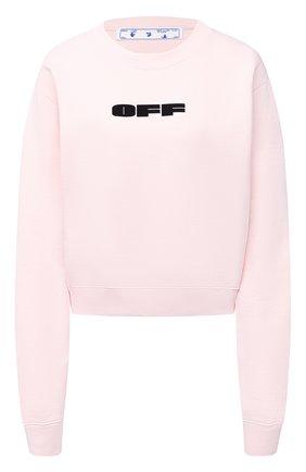 Женский хлопковый свитшот OFF-WHITE розового цвета, арт. 0WBA026R21JER001 | Фото 1