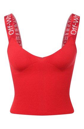 Женский топ из вискозы OFF-WHITE красного цвета, арт. 0WHD011R21KNI001 | Фото 1